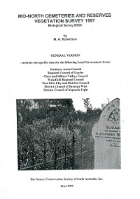 Mid-North Cemeteries and Reserves Vegetation Survey (2000)